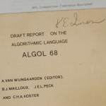 Ken Iverson&#039;s copy of ALGOL 68