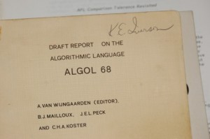 Ken Iverson's copy of ALGOL 68